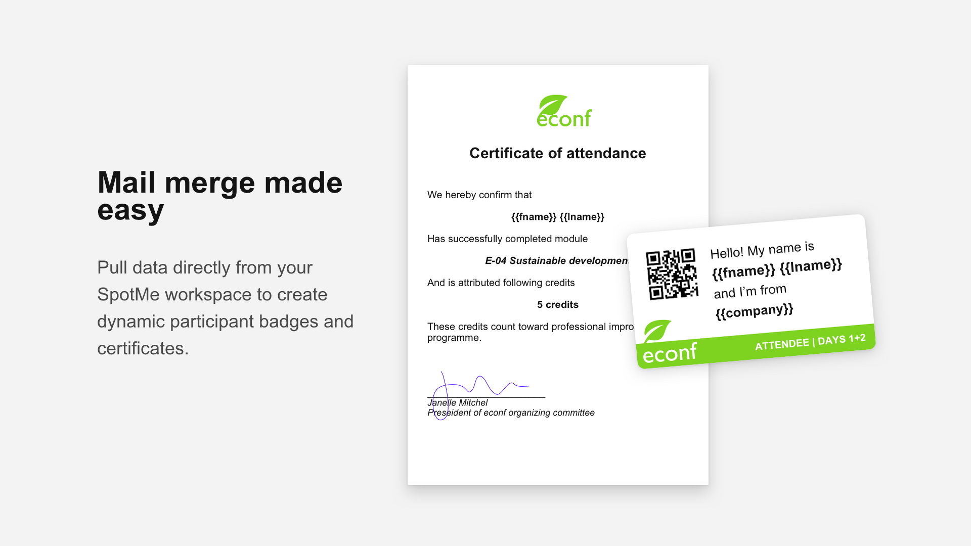Badges & certificates