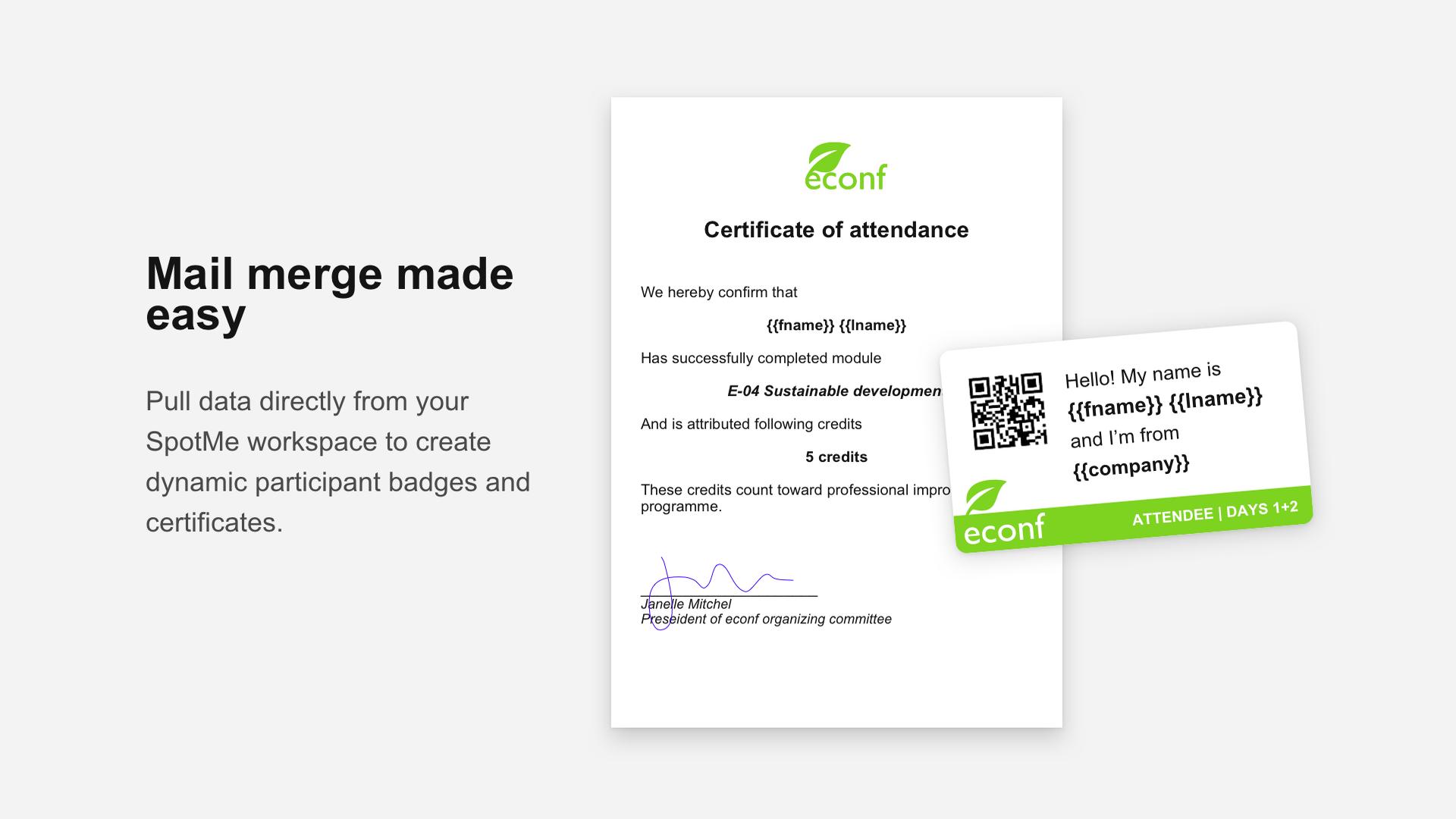 Badges & certificates